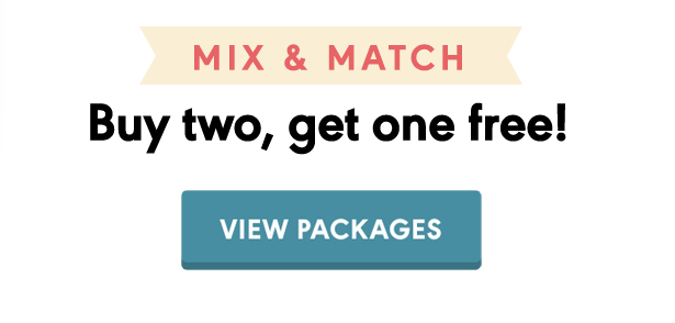 Mix & Match. Buy two, get one free!