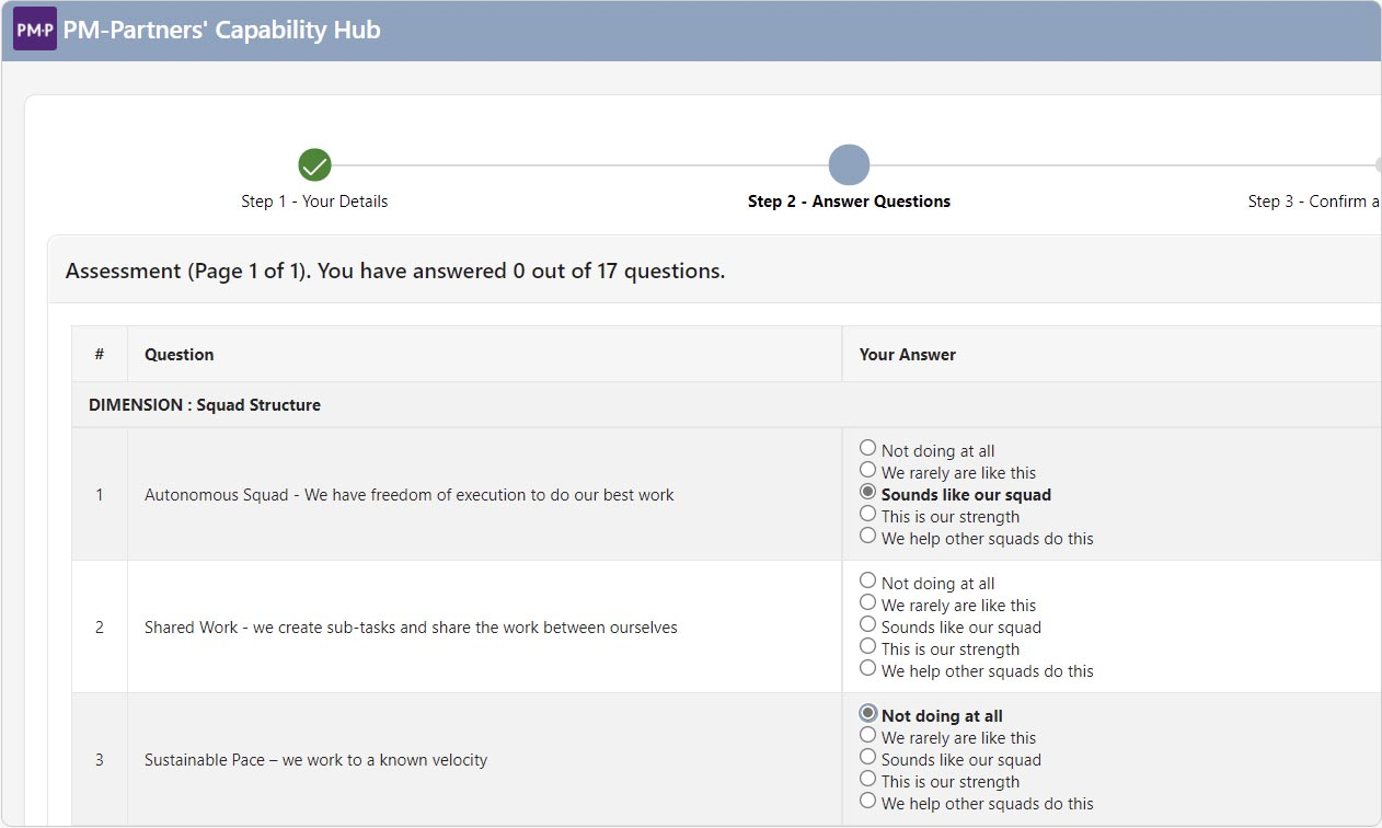 Quickly run new assessments to track progress